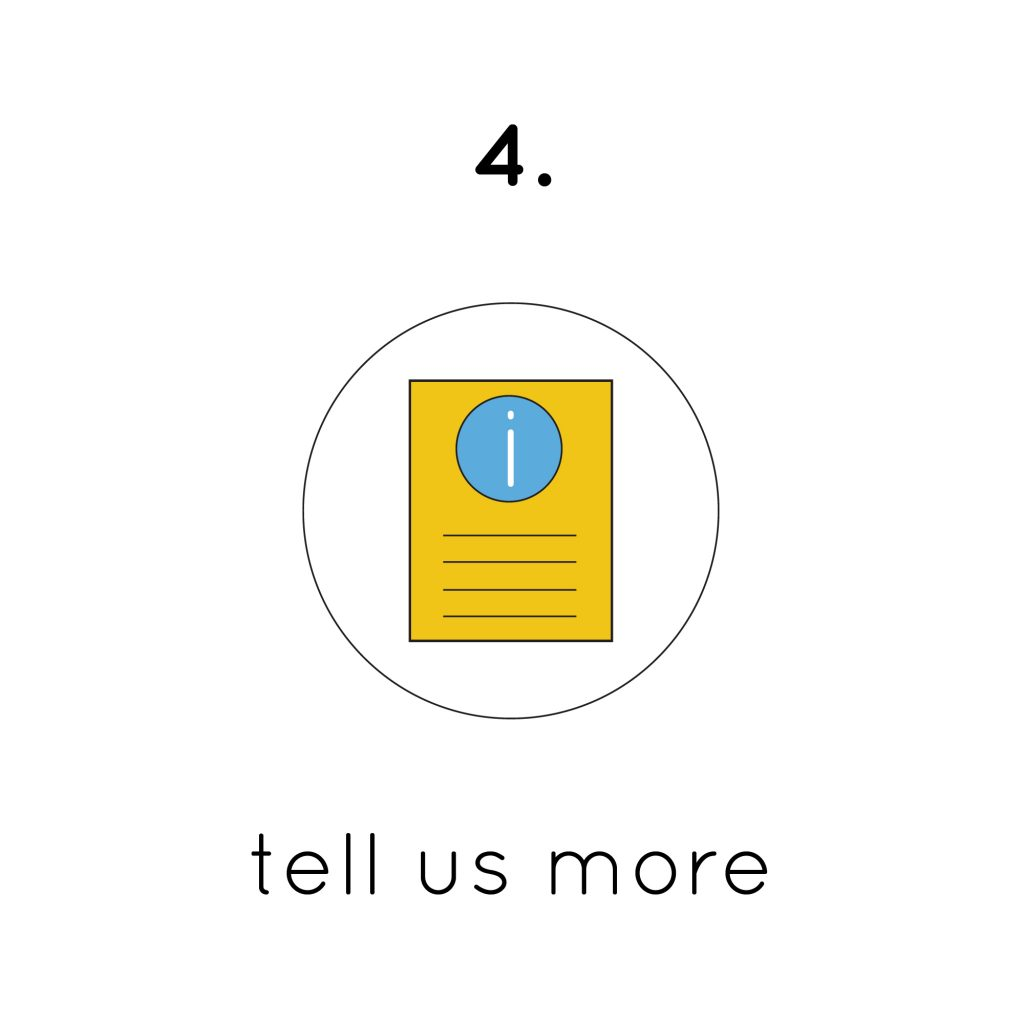 Tell us more finis custom form logo